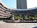 Barbican Estate - Sculpture Court, Frobisher Crescent and Cromwell Tower 01.jpg