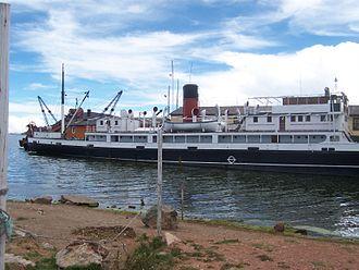 SS Ollanta - Image: Barco a vapor en el Puerto de Puno