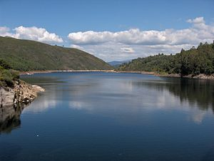 Renewable energy in Portugal - Alto Lindoso dam, serving the largest hydroelectric power station in the country
