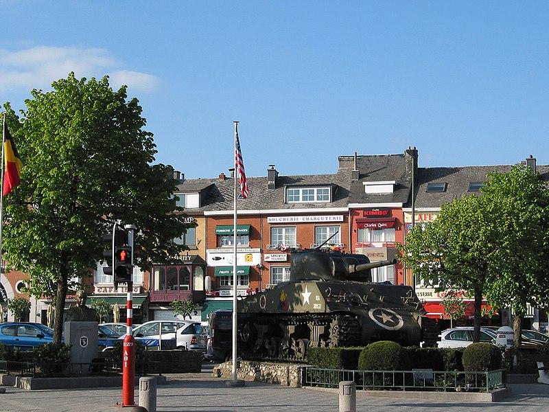 Bastogne   (Belgium), General Mc Auliffe square.