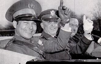 Fidel Castro - Castro intended to overthrow the presidency of General Fulgencio Batista (left, with U.S. Army Chief of staff Malin Craig, in 1938).