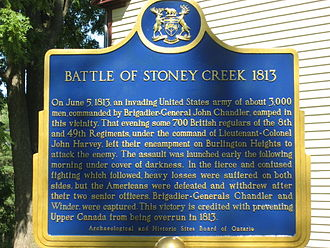 Battlefield House (Stoney Creek) - Image: Battle of Stoney Creek