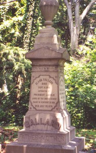 Bland Ballard (judge) - Tombstone of Bland Ballard in the Cave Hill Cemetery, Louisville, Kentucky.
