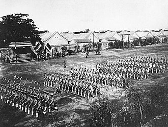 Beiyang Army - Beiyang Army troops on parade after 1912.
