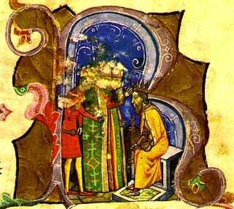 Béla IV of Hungary - Béla is crowned king (from the Illuminated Chronicle)