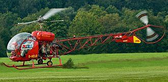 Oblivion (2013 film) - Image: Bell 47helicopter