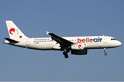 Airbus A320-200 der Belle Air