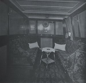 SS Ben-my-Chree (1927) - Ben-my-Chree's well appointed State Room.