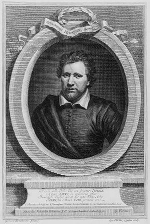 English playwright, poet, and actor Ben Jonson...