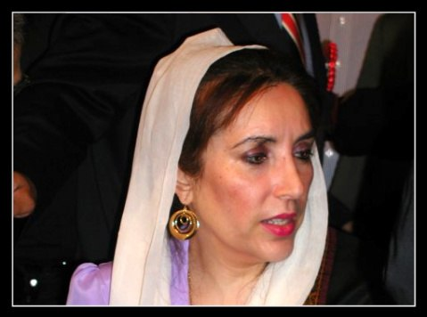 Benazir Bhutto - cropped with border