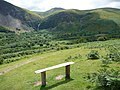 Bench in the Aber Falls valley - geograph.org.uk - 1958026.jpg