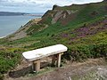 Bench on Conwy Mountain - geograph.org.uk - 1963495.jpg