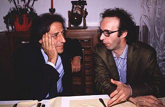 Roberto Benigni - Benigni with Giorgio Gaber in 1990.