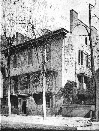 Benjamin Ogle Tayloe House - The Tayloe House in 1886, the year before Sen. Don Cameron purchased it