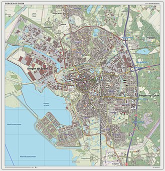 Bergen op Zoom - Topographic map of Bergen op Zoom, March 2014
