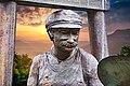 Bergmann - Bronzestatue (Portrait - Teilansicht).jpg