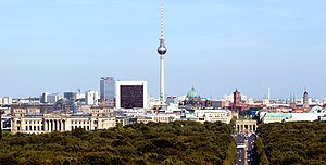 ILA Berlin Air Show - Image: Berlin skyline 2009w