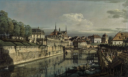 Bernardo Bellotto - Dresden, A view of the moat of the Zwinger, Sotheby's auction July 2020