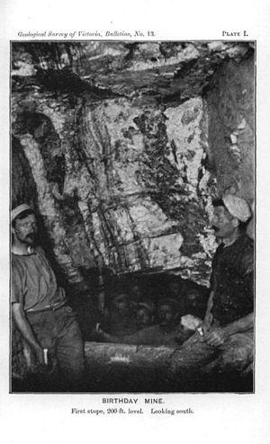 Berringa, Victoria - Birthday Mine, First Stope 200 ft level