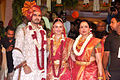 Bharat Takhtani, Esha Deol, Hema Malini at Esha Deol's wedding at ISCKON temple 01.jpg