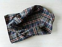 Bias yoke flannel shirt back