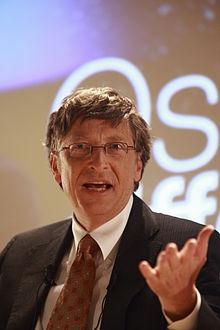 Bill Gates au Medef en janvier 2008.
