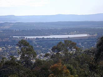 Bill Gunn Dam - View from Cunninghams Crest Lookout