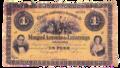 Billete de 1 peso, Archivo Histórico Casa de Luzárraga.png