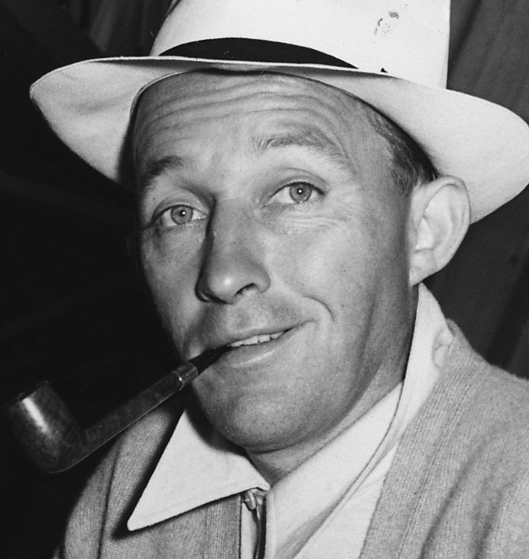 Black and white photo of Bing Crosby in 1942.