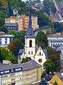 Blick auf die kath. Kirche von der Kyrburg aus - panoramio.jpg