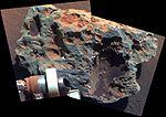 Block Island meteorite color close-up (PIA12193).jpg