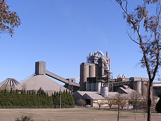 Portland cement - Blue Circle Southern Cement works near Berrima, New South Wales, Australia.