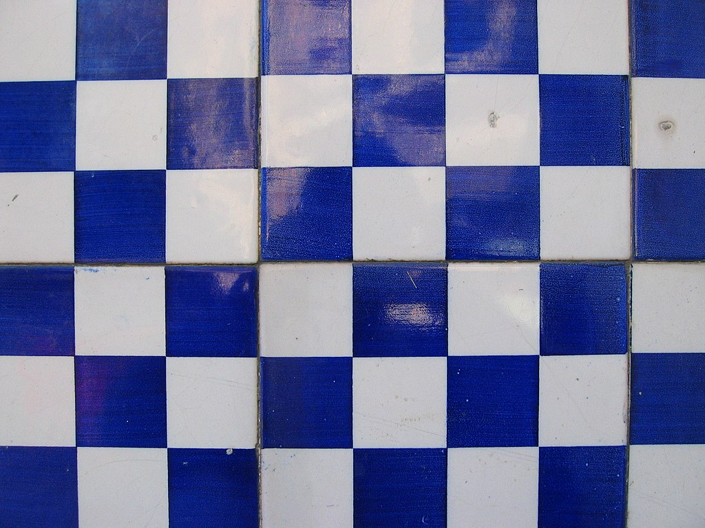 Checkerboard Tiles Kitchen