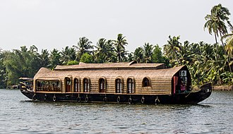 Kerala - A houseboat in the Kerala backwaters