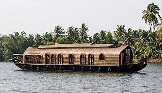 Kerala - A houseboat in the Kerala backwaters
