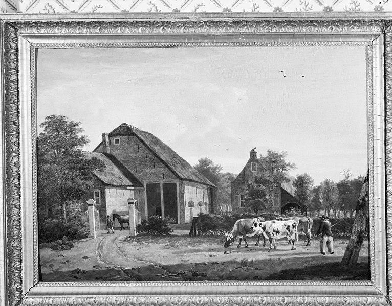 File:Boerderij De Kleine Donck, schilderij, plus-minus 1816, door A.J.Offermans - Ridderkerk - 20037324 - RCE.jpg