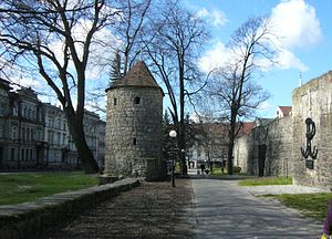 Bolesławiec - Town wall remains