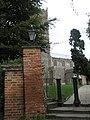 Bollards at the entrance to St Michael, Framlingham - geograph.org.uk - 2068882.jpg