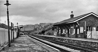 Bollington - Bollington Station in 1960