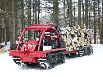 Bombardier Recreational Products - A J5 tractor and trailer, capable of snow or muskeg use
