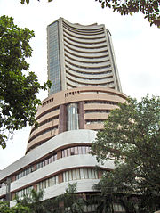 The Bombay Stock Exchange in India.