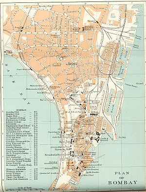 Kamathipura - Kamathipura area in map of Bombay, 1924