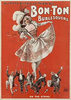 American burlesque Genre of variety show