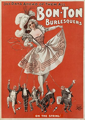 Advertisement for a burlesque troupe, 1898