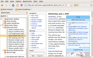 The bookmarks sidebar in Firefox 3.0—bot...