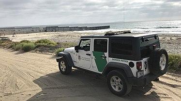 Border Patrol Vehicle near U.S. Mexico Border