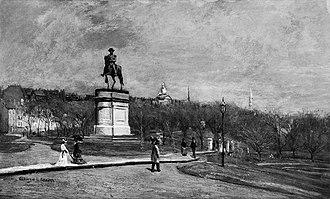 George Loring Brown - Image: Boston Public Garden ca 1869 by George L Brown MFA Boston
