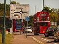 Bournemouth, London bus approaching St. Swithun's Roundabout - geograph.org.uk - 1452029.jpg