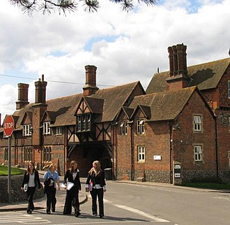 Bradfield College - Bradfield College buildings in the centre of Bradfield village