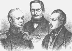 Friedrich Wilhelm, Count Brandenburg - Ministers Brandenburg, Manteuffel, Radowitz